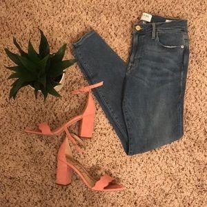 Frame Denim Le High Skinny Blue Jeans- Roke- 27